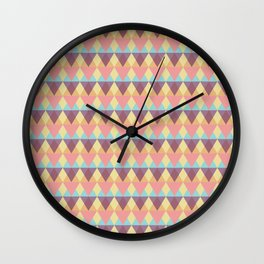 Diamond Patterns are Forever Wall Clock