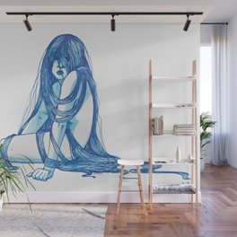 Sitting With The Feelings (full) Wall Mural