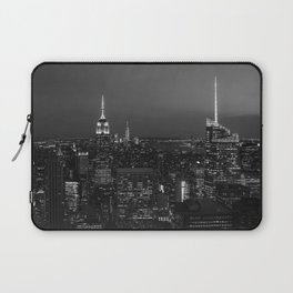 The Empire State and the city. Black & white photography Laptop Sleeve