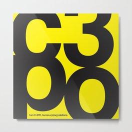 SW C3PO Metal Print