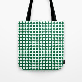 White and Cadmium Green Diamonds Tote Bag