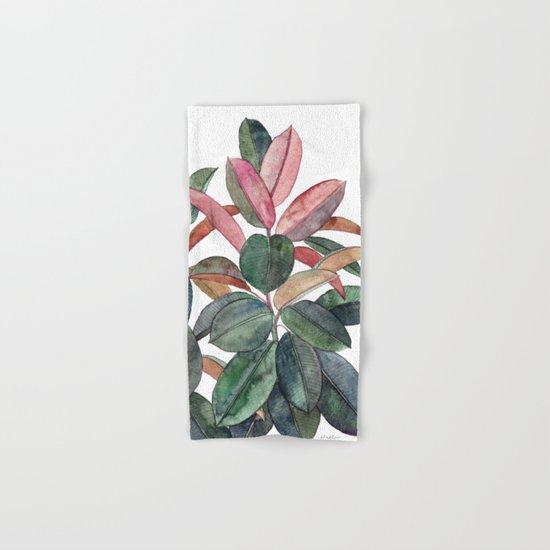 Rubber Plant Hand & Bath Towel