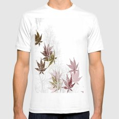 Leaves and Trees White MEDIUM Mens Fitted Tee