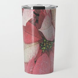 Poinsettia Bushel Pattern Travel Mug