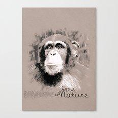 Chimpanzee (BornInNature) Canvas Print