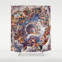 The Gods of Olympus by Giulio Romano Shower Curtain