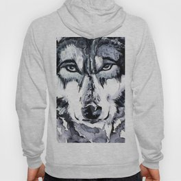 Abstract Wolf - Zoomed Hoody
