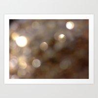 gold glitter Art Prints featuring Gold Glitter by JoJoM