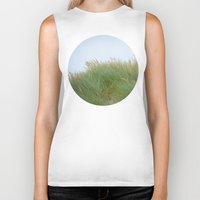 dune Biker Tanks featuring Dune Grass by A Wandering Soul