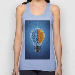 Left and Right Brain, how an idea originated, whether from the left or right brain Unisex Tank Top