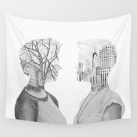 silhouette Wall Tapestries featuring Silhouette by Kim Leutwyler