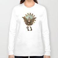 steam punk Long Sleeve T-shirts featuring Steam Punk Pilot Faery by Hafapea