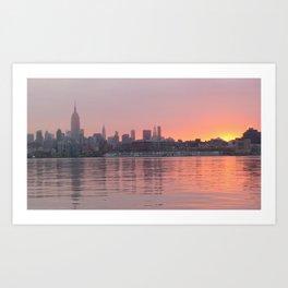 Sunrise over NYC Art Print