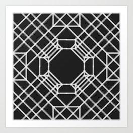 Seesaw origami Art Print