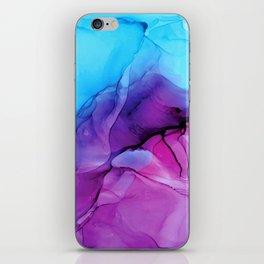 Aqua Pop - Alcohol Ink Painting iPhone Skin