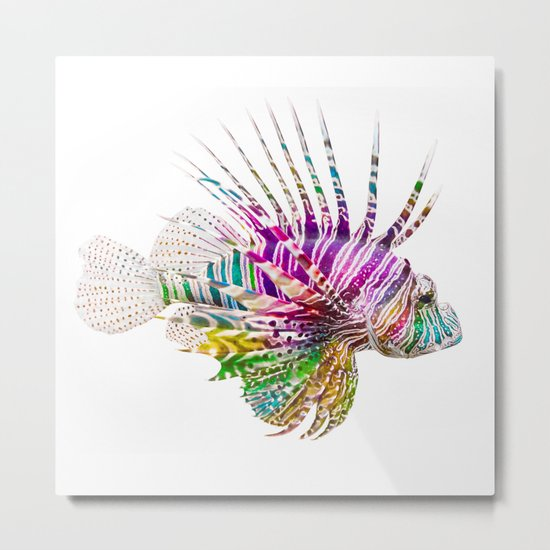 When I Dream of Lionfish Metal Print