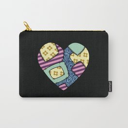 Patchwork heart Carry-All Pouch