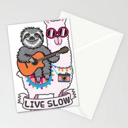 Sloth and Llama Stationery Cards