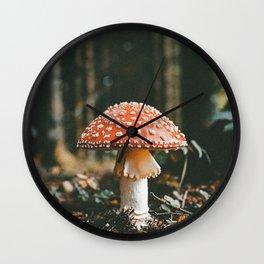 Forest Mushroom Wall Clock
