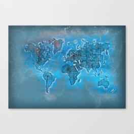 world map 109 #worldmap #world #map Canvas Print