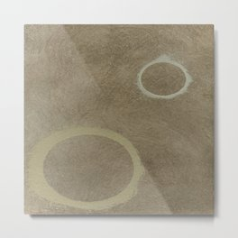 Two Circles - Modern Art - Abstract - Fine Art - California Cool - Popular Painterly Metal Print