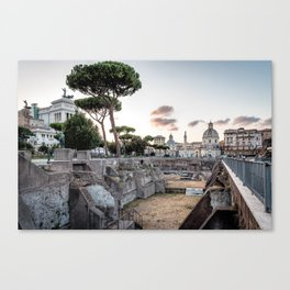 Sunset at Forum of Rome Canvas Print