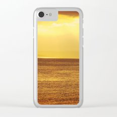 Going Fishing at sunset Clear iPhone Case