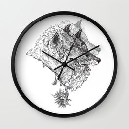 Cerberus Black and White Wall Clock