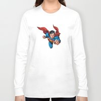 superman Long Sleeve T-shirts featuring Superman by Yuliya L