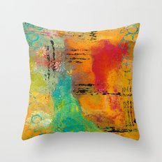 Mixed Media Abstract 1 Throw Pillow