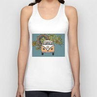vw bus Tank Tops featuring VW bus by Woosah