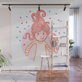 Frosty Girl Ice Cream Cutie Wall Mural