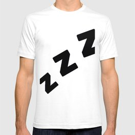 Zzzs in Black T-shirt