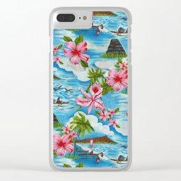 Hawaiian Scenes Clear iPhone Case