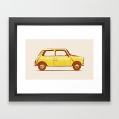 Famous Car #1 - Mini Cooper Framed Art Print