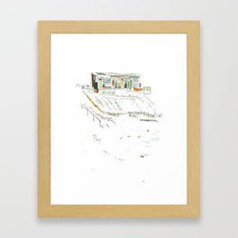 king of the allotments Framed Art Print