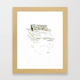 king of the allotments Framed Art Print