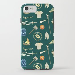 Lord of the pattern green iPhone Case