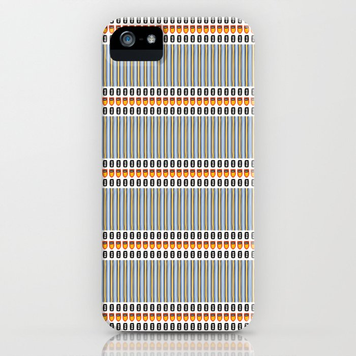 Geometric Stripes Seamless Vector Pattern Art Deco iPhone Case