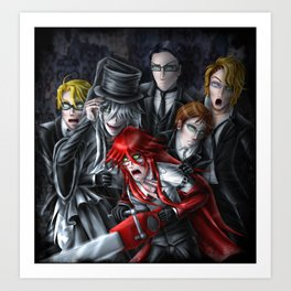 Haunted House Reapers Art Print