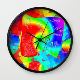 Friendship Love Kindness Wall Clock