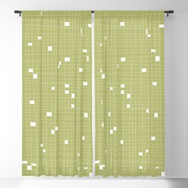 Light Green and White Grid - Missing Pieces Blackout Curtain