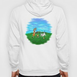Easter - Spring-awakening - Puppy Capo with Rabbit and Chick Hoody