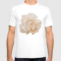 IVORY ROSE MEDIUM White Mens Fitted Tee