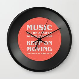 Music is the answer to your problems, dj gift Wall Clock