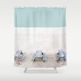 picnic triptych Shower Curtain