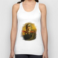 replaceface Tank Tops featuring George Lucas - replaceface by replaceface