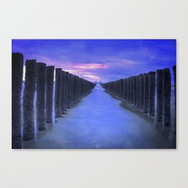 The North Sea beach in the Netherlands, Zeeland Canvas Print