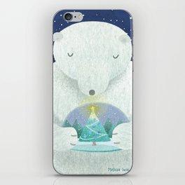 Holiday Polar Bear iPhone Skin