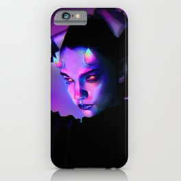 Girl with Rainbow Horns iPhone Case